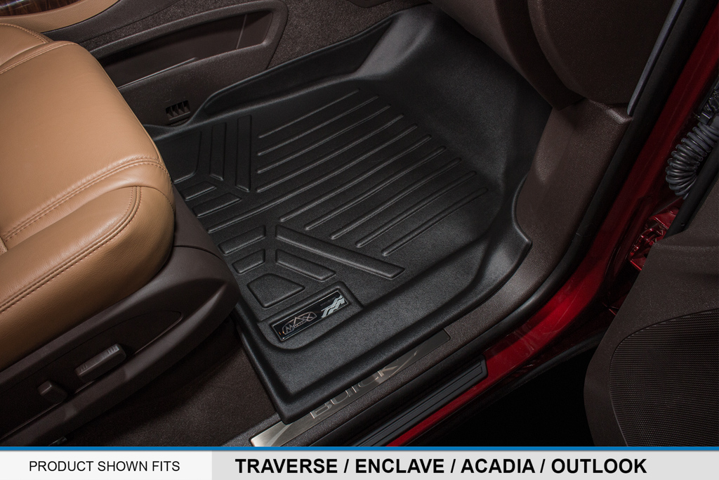 all weather floor mats set and cargo liner for chevy suv with bucket seats black ebay. Black Bedroom Furniture Sets. Home Design Ideas