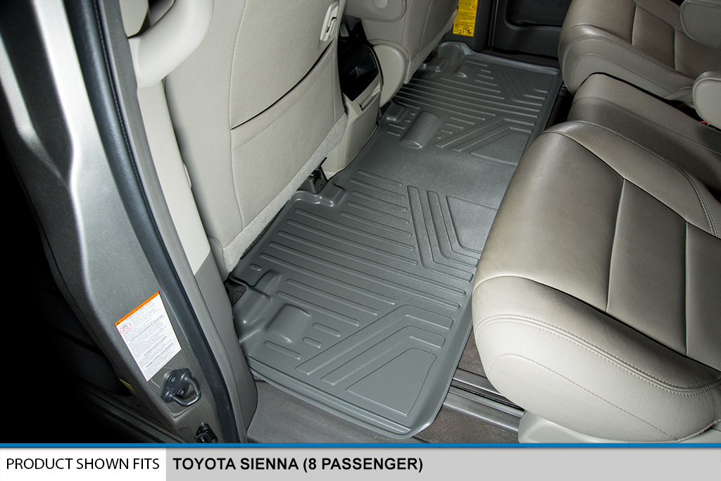 all weather floor mats set (3 rows) and cargo liner bundle sienna