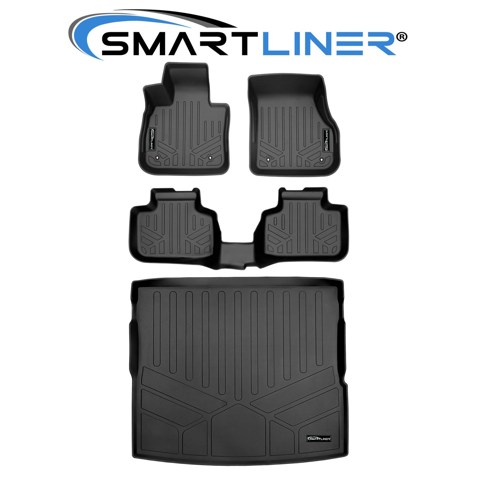 SMARTLINER All Weather Custom Fit Floor Mats 2nd Row Liner Black for 2016-2020 BMW X1 2018-2020 BMW X2